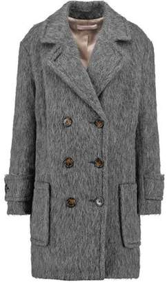 See by Chloe Double-Breasted Faux Shearling Coat