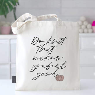 Kelly Connor Designs 'Knit... Makes You Feel Good' Motivational Knitting Bag