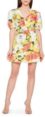 Parker Minna Floral Ruffle Cotton Dress