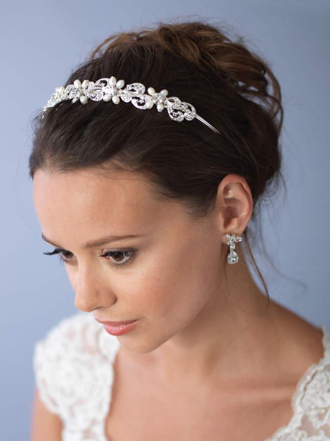 Etsy Bridal Pearl Wedding Headband, Freshwater Pearl Bridal Headpiece, Bridal Hair Accessory, Pearl Brida