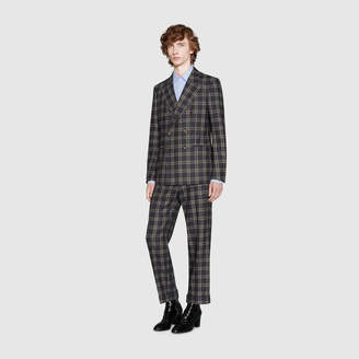 Gucci New Signoria check flannel suit