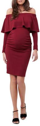 Soiree Off Shoulder Dress LS