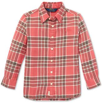 Polo Ralph Lauren Little Girls Plaid Cotton Tunic Shirt