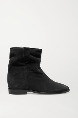 Isabel Marant Crisi Suede Ankle Boots - Black