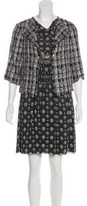 Chanel Silk Dress Set Black Silk Dress Set