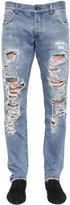 Dolce & Gabbana 16.5cm Destroyed Stretch Denim Jeans