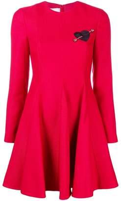 Valentino heart patch dress