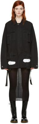 Off-White Black Diagonal Spray Field Jacket $1,145 thestylecure.com