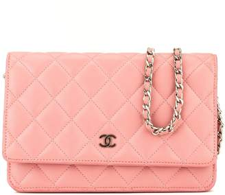 Chanel Pink Quilted Lambskin Classic Wallet On Chain WOC (3974001)