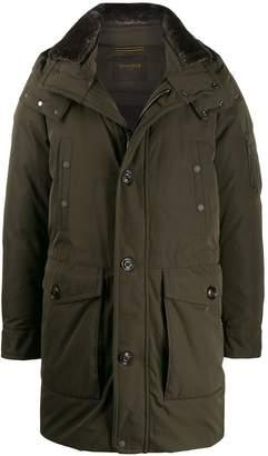 Moorer multi-pocket parka coat