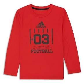 adidas Boys' Long Sleeve Football Graphic Tee - Little Kid