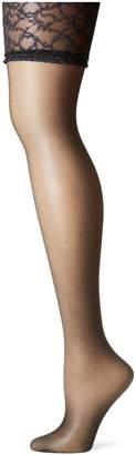 Berkshire Women's Plus-Size Queen Silky Sheer Sexyhose Stockings 1361