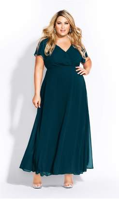City Chic Citychic Sweet Wishes Maxi Dress - sapphire