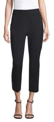Kate Spade New York Lace-Trimmed Cigarette Pants
