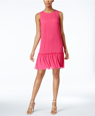 Tommy Hilfiger Drop-Waist Chiffon Dress $99 thestylecure.com