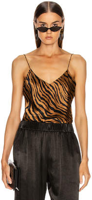 Nili Lotan Isabella Cami Top in Bronze Tiger Print | FWRD