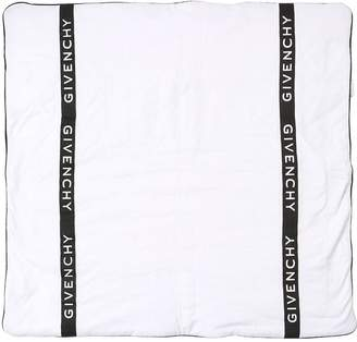 Givenchy Logo Printed Cotton Jersey Crib Blanket