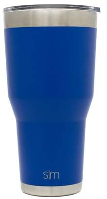 Simple Modern 30oz Cruiser Tumbler - Vacuum Insulated Double Wall Camping Coffee Mug - Travel Mug 18/8 Stainless Steel Thermos Blue - Twilight