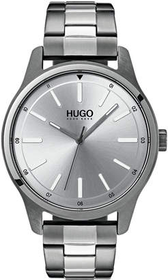 HUGO BOSS HUGO Men's #Dare Two-Tone Stainless Steel Bracelet Watch 42mm