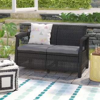 Mercury Row Berard Patio Loveseat with Cushions