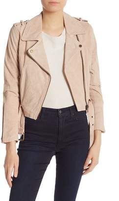 Vigoss Genuine Leather Suede Moto Jacket