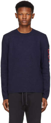 Gucci Navy Snake Wool Sweater