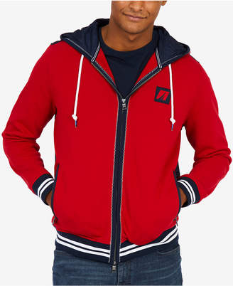 Nautica Men's Big & Tall Mixed-Media Hoodie