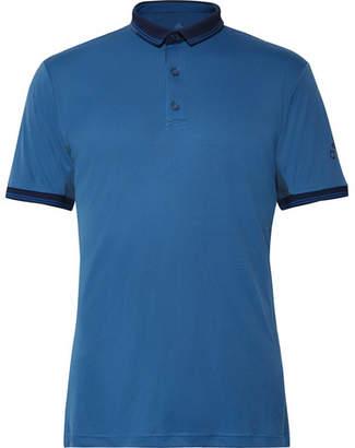adidas Sport Contrast-Tipped Climalite Piqué Tennis Polo Shirt