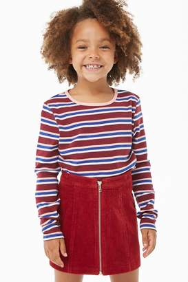Forever 21 Girls Striped Knit Top (Kids)