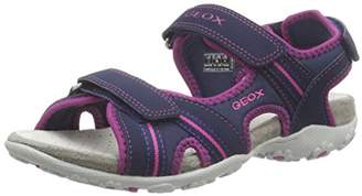 Geox JR Sandal Roxanne A, Girls' Open Toe Sandals,(32 EU)