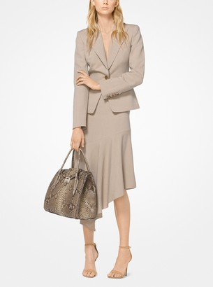 Michael Kors Washed Linen and Silk Blazer