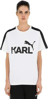 Puma Select Karl Printed Cotton Jersey T-Shirt