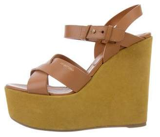 Sergio Rossi Platform Wedge Sandals