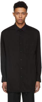 Yohji Yamamoto Black Tencel Panel Shirt