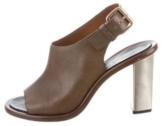 Celine Slingback Peep-Toe Pumps