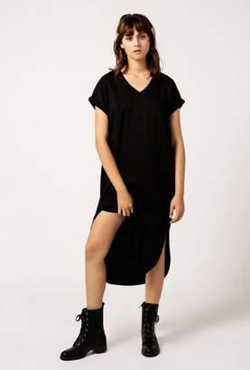 Azalea Long Basic V Neck Dress