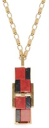 Cercle Amédée Cercle Amedee - She Couldn't Take It Enamel Necklace - Womens - Red