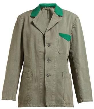 Myar - Sej7a Cotton Twill Fatigue Jacket - Womens - Green