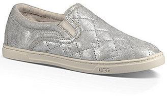 UGG® Fierce Deco Quilt Metallic Suede Stardust Sneakers $110 thestylecure.com