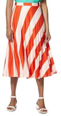 F&F Striped Pleated Midi Skirt 6