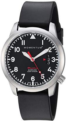 Momentum Women's 'Flatline 36' Quartz Stainless Steel and Rubber Casual Watch