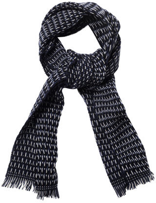 Gucci Tri-colour knitted scarf