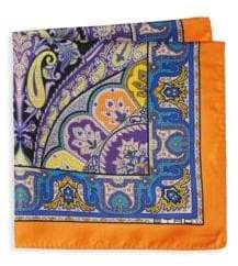 Etro Multicolor Paisley Silk Pocket Square