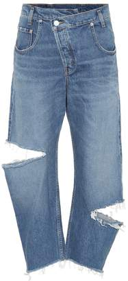 Monse Cropped high-rise straight jeans