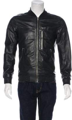 BLK DNM Leather Bomber Jacket