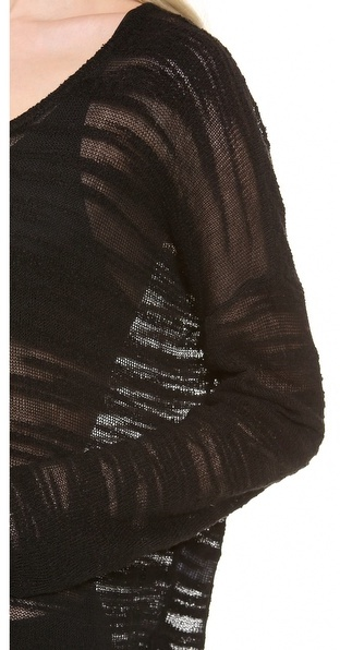 Helmut Lang HELMUT Destroyed Boucle Sweater