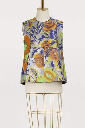 Maison Rabih Kayrouz Sleeveless floral top