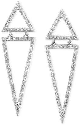 Effy Geo by Diamond Triangle Drop Earrings (5/8 ct. t.w.) in 14k White Gold