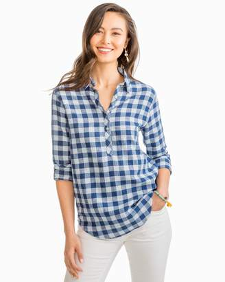 Buffalo David Bitton Southern Tide Mini Check Hadley Popover Shirt