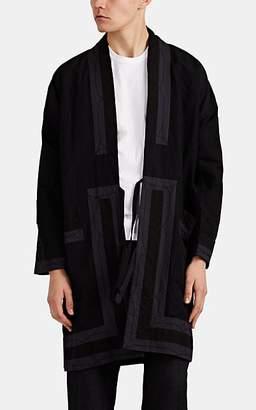 Visvim Men's Embroidered Cotton-Linen Kimono Jacket - Black